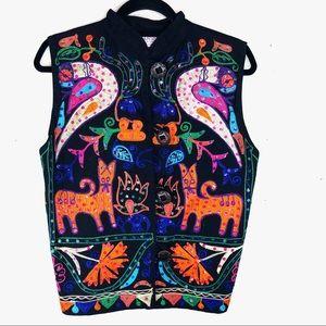 Vintage Unique Embroidered Vest